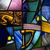 Stained glass;
